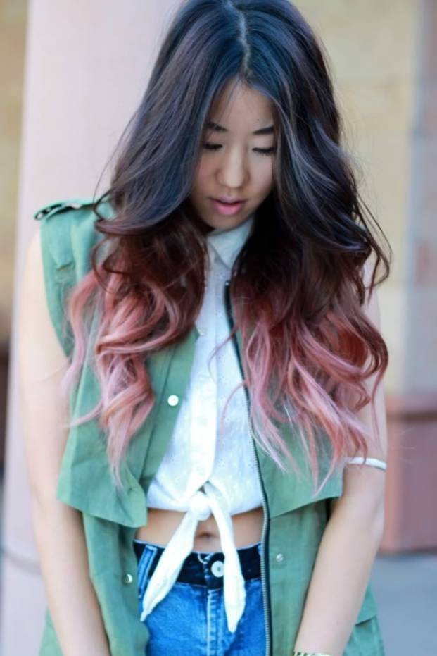 So I'm going show a few pics of REALLY cool dip dyed hair, enjoy.