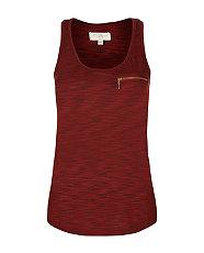 Burgundy Space Dye Zip Vest