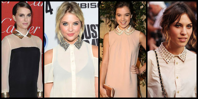 celebs in studded collars